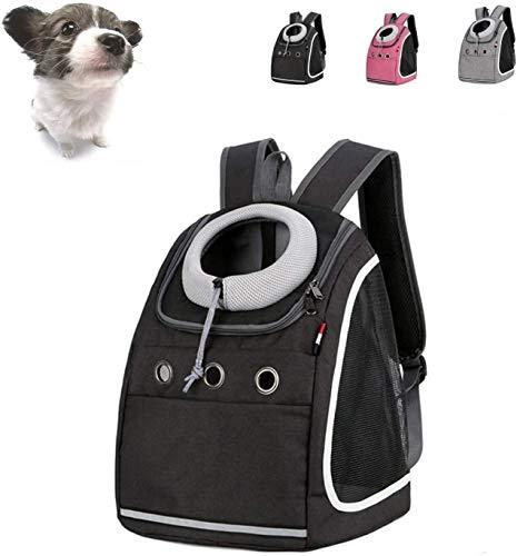 Trasportino Gatto Zaino Cane, Pieghevole Zaino Pet Carrier, Mesh Traspirante Stile Confortevole Gatto del Cane di Pet Carrier Viaggio Zaino portante Anteriore del Sacchetto SLZFLSSHPK (Size : Black)