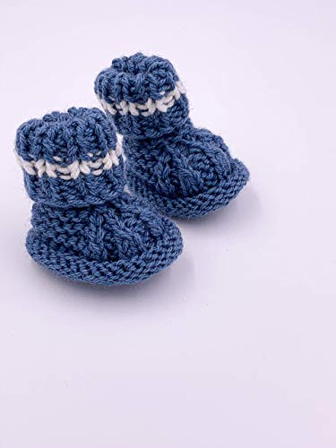 Little One Baby Schuhe| Handmade Bio Neugeborenes Geschenk | Geschenk zur Geburt | Baby Party |Baby Shower | Gehäckelt | Genderneutral | Blau
