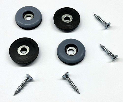 16 Stück Möbelgleiter Teflon rund mit Schraube Ø 30 mm, Stärke 5mm