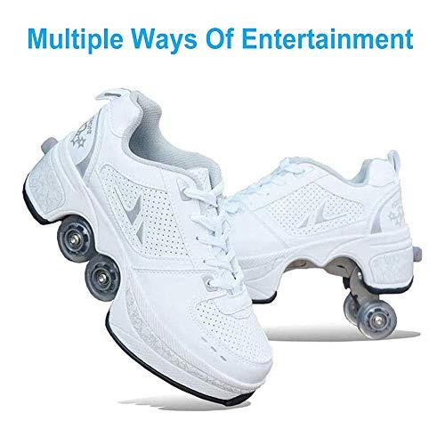 HealHeatersR Vervormingsschoenen kinderen studenten rolschaatsen quad skateboard schoenen skaten outdoor sport rolschaatsen kinderen