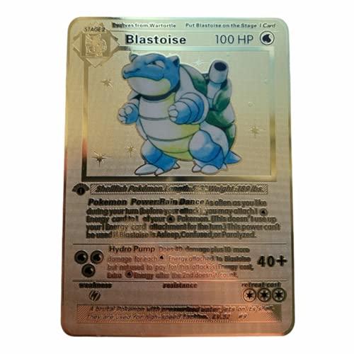 Pokemon Blastoise 1a edizione set di base Oro Metallo Card Collezionabile 2/102