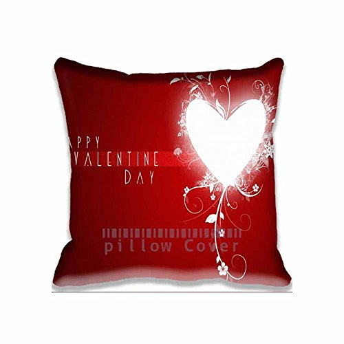 Cotton Polyester Home Decorative Accent Throw Pillow Cover Best Valentine Day Cushion Case Pillow Sham for Sofa 18x18inch