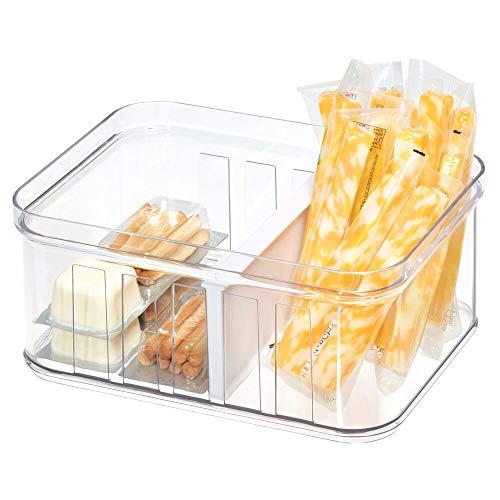iDesign Kühlschrankbox (21 cm x 16 cm x 9,6 cm), kleiner Aufbewahrungsbehälter aus BPA-freiem Kunststoff, Aufbewahrungssystem für Küche oder Kühlschrank, durchsichtig