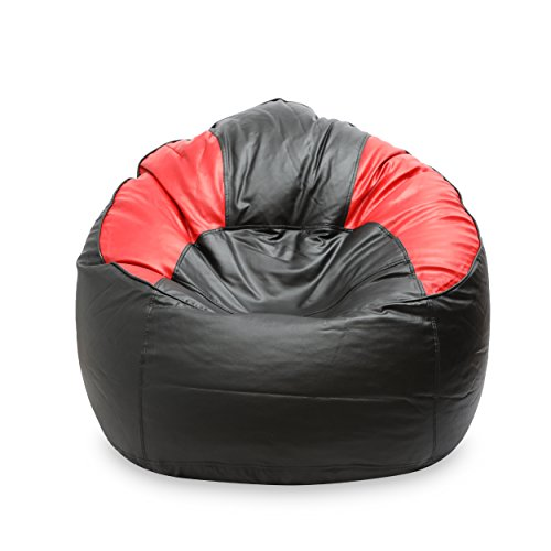 VSK Bean Bag Sofa Mudda Cover Red & Black XXXL 35 * 35 * 15 Inch (Without Beans)