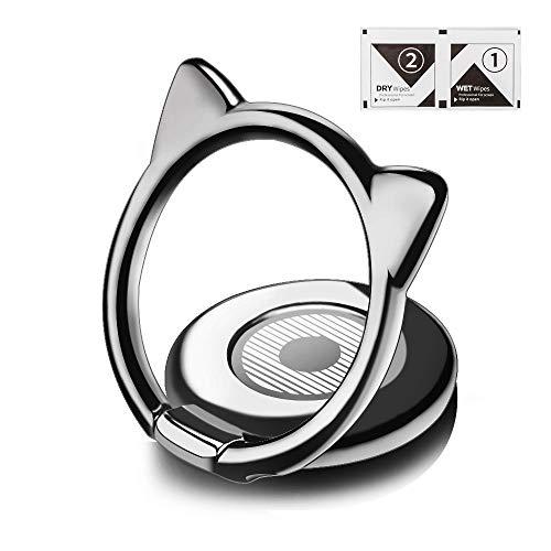 aceyoon Fingerhalterung Handy Katze HandyRing Halter 360°&180° Drehbarer Handy Ringhalter Finger Tier Smartphone Ring Holder Ständer Kompatibel für Galaxy S9 Huawei Mate20 Pro P20 P10 MEHRWEG
