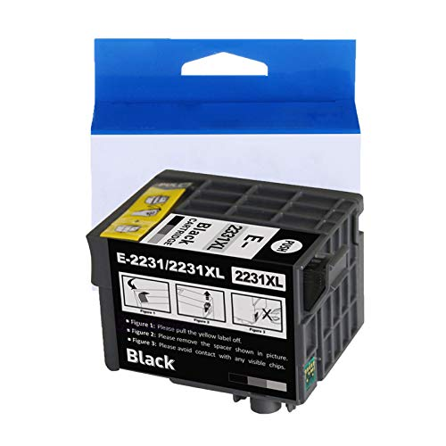 JZMY T2231 T2231XL Tintenpatrone für Epson WorkForce WF-M1030 WF-M1560 Monochrome Tintenstrahldrucker, High Definition Service