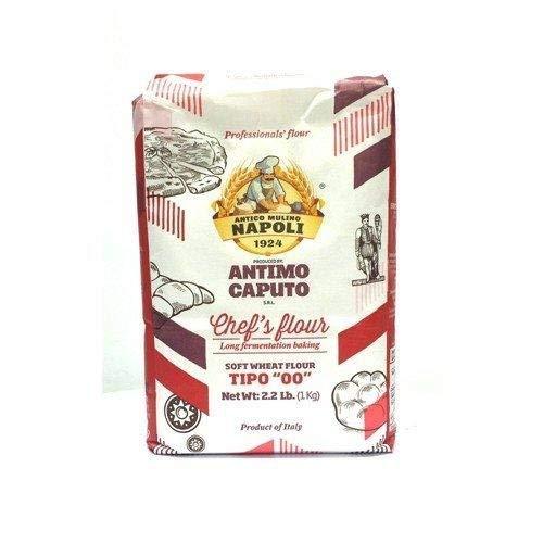 """Antimo Caputo """"00"""" Chefs Flour 1 Kilo (2.2 Pounds) Bags Pack of 4"""