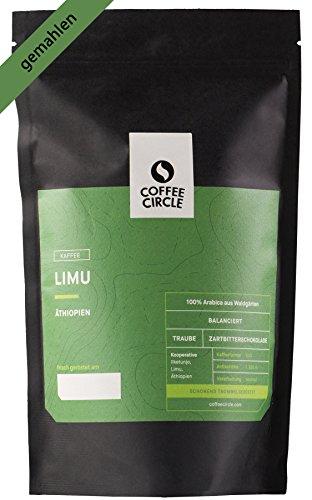 Coffee Circle | Premium Kaffee Limu | 350g gemahlen | Blumiger Filterkaffee aus äthiopischen Waldgärten | 100% Arabica | fair & direkt gehandelt | frisch & schonend geröstet