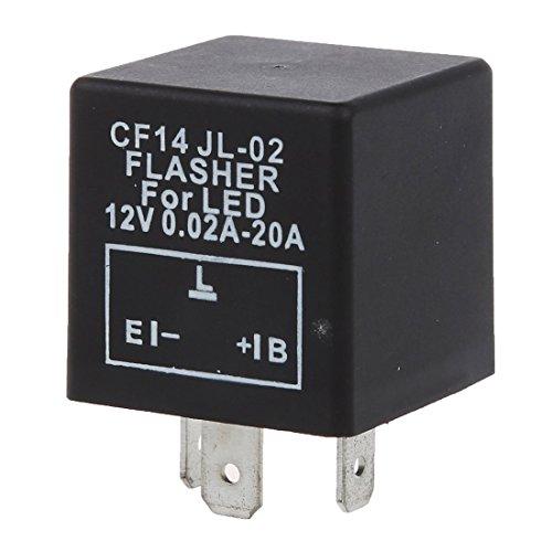 TOOGOO(R)Rele de flashing LED Indicador Intermitente Repetidor E.L.B con 3pin para coche y Motocicleta