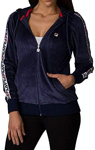 Fila Marybeth NEW before selling Women Velour Jacket Navy X-Small Free shipping