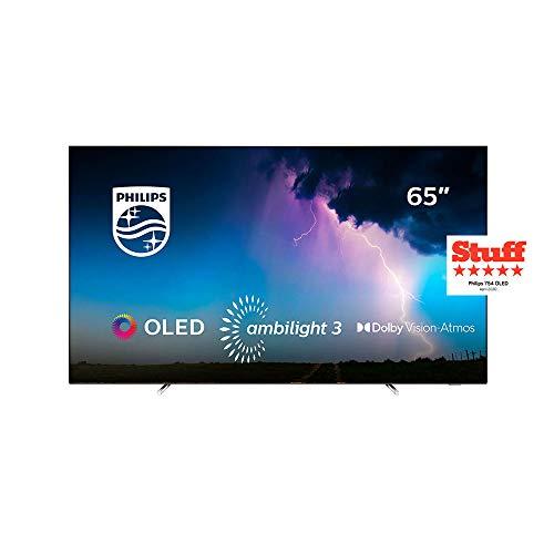 Philips 65OLED754, 7 series Smart TV OLED UHD 4K con tecnologia Ambilight su 3 lati