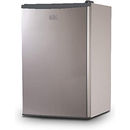 BLACK+DECKER BCRK43V Compact Refrigerator Energy Star Single Door Mini Fridge with Freezer, 4.3 Cubic Ft, VCM