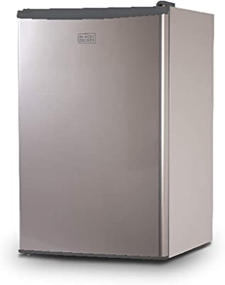 BLACK+DECKER BCRK43V Compact Refrigerator Energy Star Single Door Mini Fridge with Freezer, 4.3 Cubic Ft, VCM
