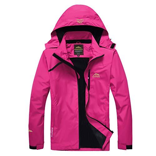Volwassan Damen Regenmantel Leichte und dünne Berg Outdoor Softshell Jacke Running Damen Winddicht regendicht Hardjacke mit Kapuze