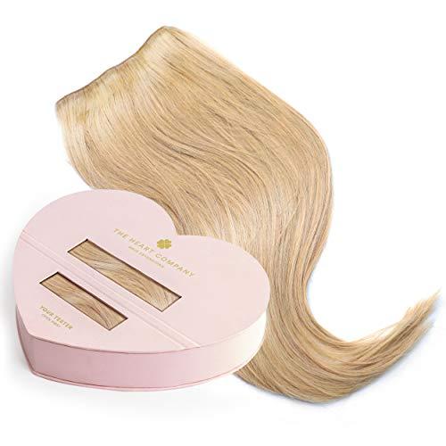 THE HEART COMPANY Premium Clip-in Extensions Echthaar (10 Clip-in Haartressen 160g Set) - Länge 50 cm - Farbe Dark Blonde - Dunkelblond