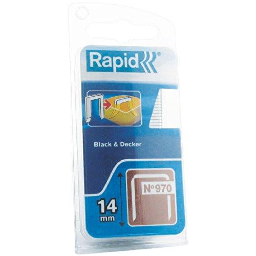 Rapid 40109599 Klammer mit umbiegespitzen (DP) für Black & Decker Produkte Typ 970/14mm, 670 St. Blister, 14 mm