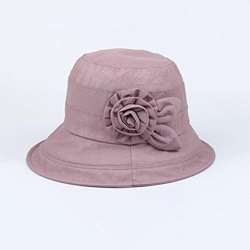 女性の麦わら帽子 女性の麦わら帽子 中年  年配 お母さん 祖母 夏  バイザーハット (色 : 豆の砂の色)