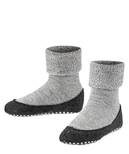 FALKE Haussocken Cosyshoe Schurwolle Kinder schwarz grau viele weitere Farben verstärkte Hüttensocken ohne Muster atmungsaktiv einfarbig Noppendruck rutschhemmend auf der Sohle 1 Paar