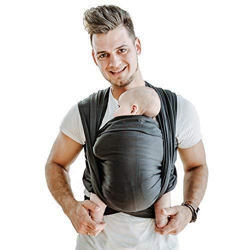 Shabany® Fular portabebés – 100% algodón orgánico – portabebés para recién nacidos hasta 15 kg –...