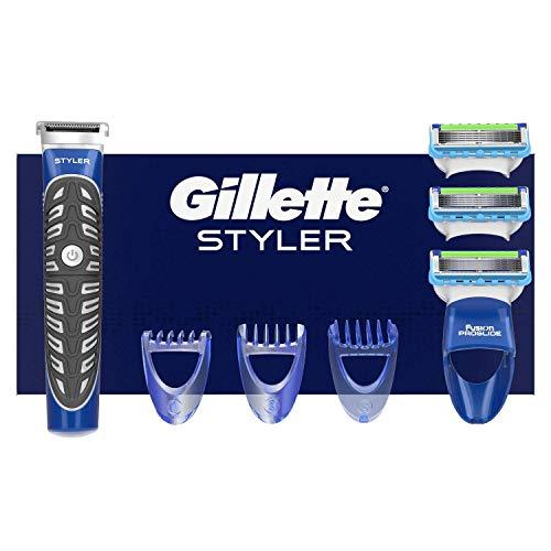Gillette 3-in-1 styler Baardtrimmer, scheerapparaat + 2 scheermesjes en definieerapparaten.