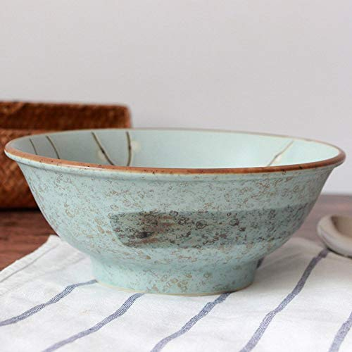 WY-YAN 8' Cerámica Japonesa vajilla tazón Serie de Ciruelo/Soup Bowl/Azul Mate Esmalte/escabeche Fish Bowl