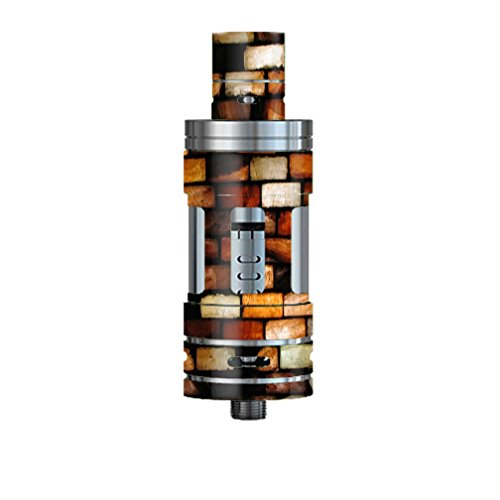 Skin Decal Vinyl Wrap for Smok TFV4 Mini Tank Vape Mod Skins Stickers Cover / Stained Glass Bricks Brick Wall