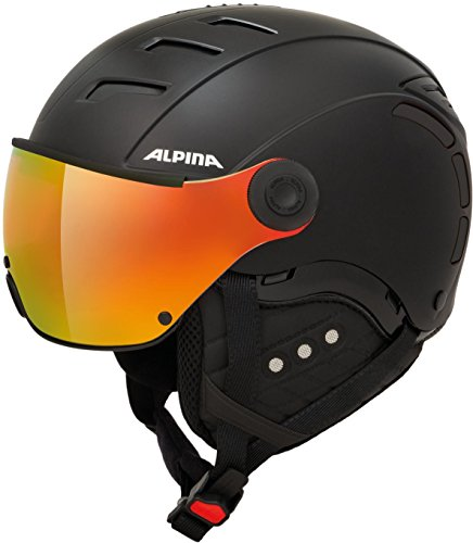 ALPINA JUMP 2.0 QVM Skihelm, Unisex– Erwachsene, black matt, 59-61