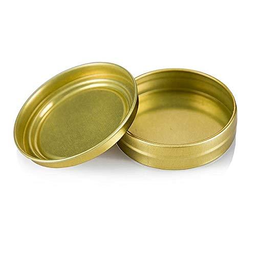 Kaviardose - gold, unbedruckt, ohne Gummi, ø 6,5cm, für 80g Kaviar, 100% Chef, 1 St