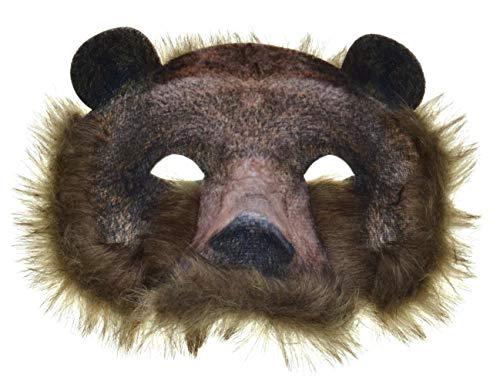 VENTURA TRADING AM2 Oso Salvaje Mscara Oso de Peluche Mascara Facial Mscara Mascarilla Veneciana Mascarada Fiesta Osito de Peluche Soportar Mscara de Animal
