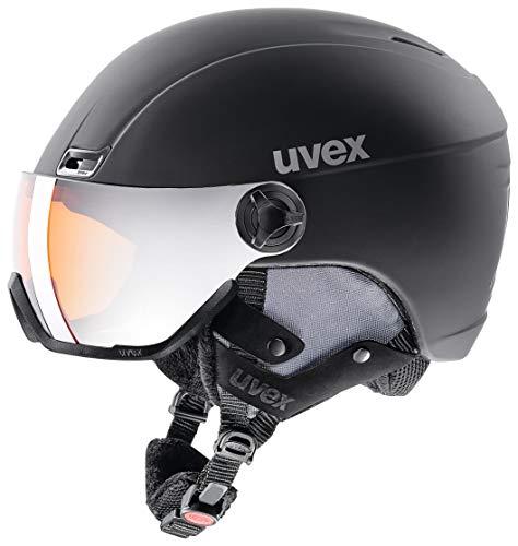 *Uvex Erwachsene, HLMT 400 visor style Skihelm, black*