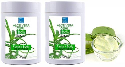 100% Natural Gel de Aloe Vera Refrescante Hidratante Rostro Cuerpo 2000 ml...