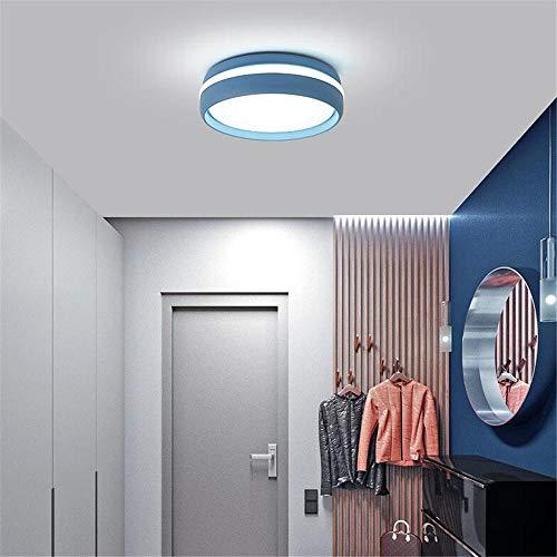 plafoniera led,Rotondo, macaron, lampada guardaroba, 12W, luce bianca, risparmio energetico, corridoio, balcone, bagno azzurro