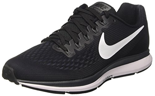Nike Herren Air Zoom Pegasus 34 Laufschuhe, Schwarz (Blackwhite dark Grey anthracite), 44.5 EU