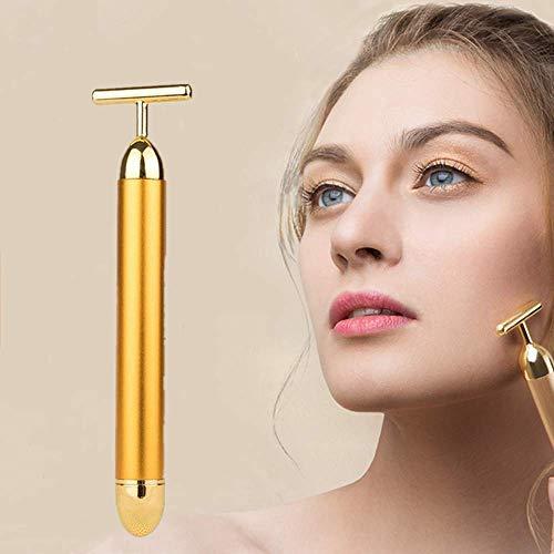 Masajeador Facial, Uplayteck 24k Dorado Pulse Beauty Bar, Antiarrugas, Piel Facial Relajante, Micro Masajeador Vibrante Facial de Masaje Antienvejecimiento Perfecto para Belleza de Cuello Facial, Cuidado de la Piel
