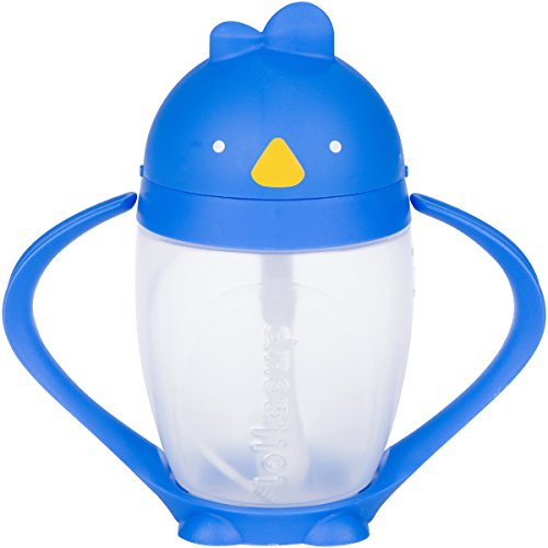 Lollaland Weighted Straw Sippy Cup for Baby: Lollacup - Transition Kids, Infant & Toddler Sippy Cup (6 months - 9 months) | Shark Tank Products | Lollacup (Brave Blue)