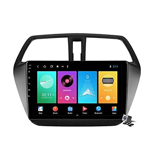 9 Pollici Autoradio 2 DIN Android 10 per Suzuki SX4 2 S-Cross 2012-2016 Supporto GPS FM AM RDS/Bluetooth/Carplay Android Auto/Controllo del Volante/Sistema Multimediale,M150