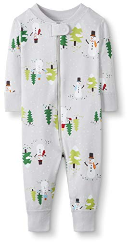 Moon and Back One Piece Footless Pajamas infant-and-toddler-sleepers, muñeco de nieve (Snowman Print), 0-3 messes (46-56 CM)