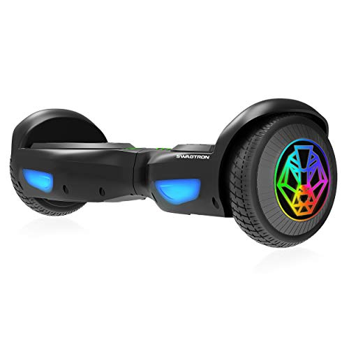 SWAGTRON SWAGBOARD T882 EVO Hoverboard with LED Light-Up Wheels, Automatic Self-Balancing, UL2272-Compliant Lithium-Free Battery with SentryShield Quantum Protection