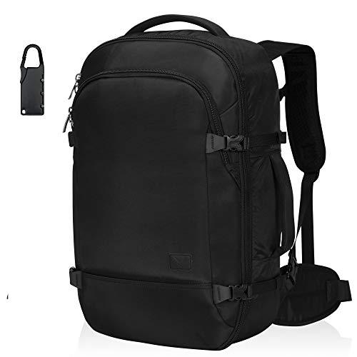 Hynes Eagle 45L Travel Backpack Carry on Backpack Weekender Bag, Black