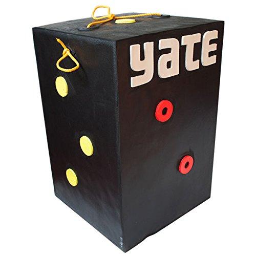 YATE Targets Bogenschießen Arrow Zielscheibe Schießwürfel Polimix Block nur 5,4kg Zuggewicht bis 100lbs Var2, für Compoundbogen und Armbrust, wetterfest, extrem stabil und langlebig