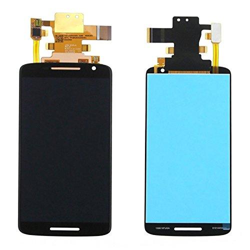 Wigento Display LCD Komplett Einheit für Motorola Moto X Play/X 3rd gen / XT1562 / XT1563 Reparatur Schwarz + Werkzeug Opening Tool