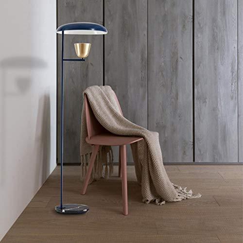 Lámpara de pie de pie de 165 cm de altura de hierro forjado, lámpara de pie para sala de estar, dormitorio, mesita de noche, base de mármol de metal, lámpara de mesa LD12-25