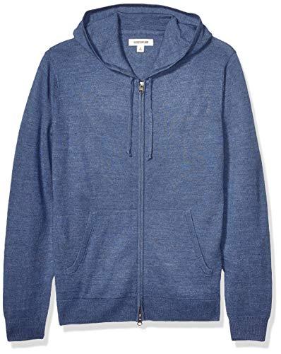 Goodthreads Merino Wool Fullzip Hoodie Sweater Pullover, denim, M