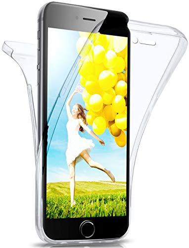 moex Double Case für iPhone 6s Plus / 6 Plus - Hülle mit 360 Grad Schutz, Silikon Schutzhülle, vorne und hinten transparent, Clear Cover - Klar