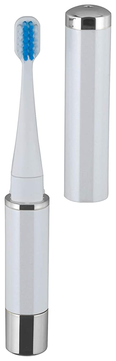 トランペットドライルーフロゼンスター マイナスイオン 音波振動歯ブラシ 白 TB-100W