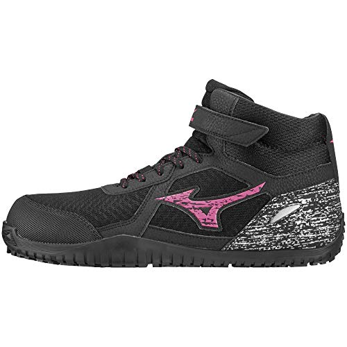 [ミズノ] 安全靴 オールマイティ SD13H 軽量 メッシュ ハイカット JSAA・普通作業用(A種) メンズ ブラック×ピンク×ブラック 26 cm 3E