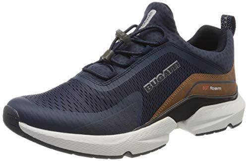 bugatti Herren 342848606900 Slip On Sneaker, Blau, 44 EU