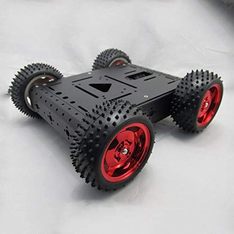 nueva gama alta exclusiva DishyKooker Plataforma de 4 Ruedas de Cochega máxima máxima máxima 20 kg de aleación de Aluminio Completo Robot chasis 4 WD Robot Smart Coche  sin mínimo