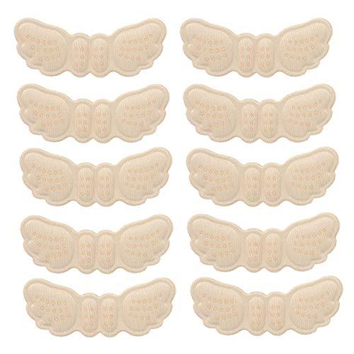 raguso 5 Pares de calcomanías para el talón Forma ala, Antideslizantes, antidesgaste, para talón, Accesorios para el Cuidado los pies, para Zapatos Sueltos(Thin Type (Thickness 3mm))