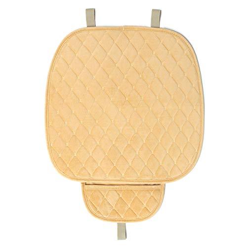 PeroFors pluche zwagen frontsur-ligkussen dekt ademende stoel protector Seat Pad mat met opbergtas beige